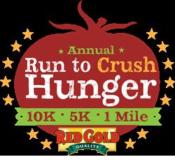 RUN TO CRUSH HUNGER logo